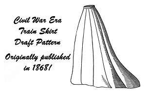 Civil War Victorian Era Train Skirt Pattern Draft 1868