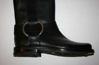 £ 650 NIB Authentic Casadei Womens Black Leather Rain Boots size UK 6