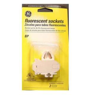 GE Sockets for Medium Bi Pin Fluorescent Lamps (2 Pack) 80624 at The