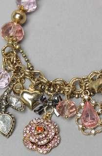 Betsey Johnson The Ombre Rose Half Stetch Charm Bracelet  Karmaloop