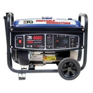 ETQ4,000 Watt Gasoline Powered Portable Generator with Free Gift Card