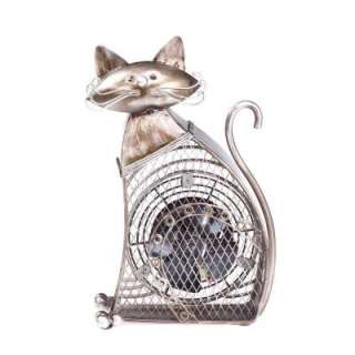 Deco Breeze Decorative Figurine Fan   Cat DBF0358
