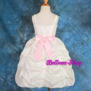 Wedding Flower Girls Party Pageant Dress Size 3T 8