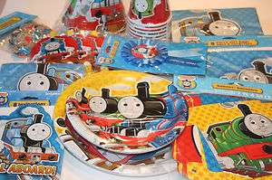 Train Party SET for 16 ~PLATE NAPKIN CUP TABLECOVER FAVOR TREAT SACK