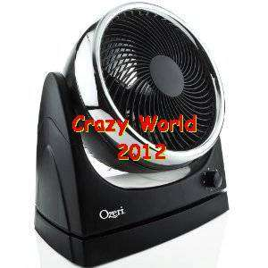 NEW Ozeri Brezza Oscillating Velocity Desk Fan