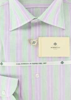 New $400 Borrelli Lavender Purple Shirt 16/41