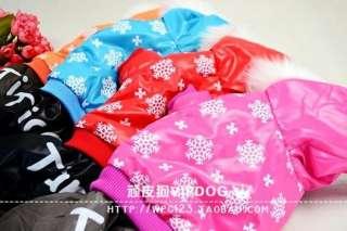 dog pet cat WARM WINTER clothing coat pink strip jumper snowflake yf01