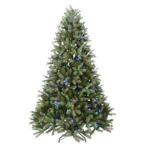 Holiday 7.5 ft. Pre Lit Downswept Douglas PE/PVC Tree Multi Color