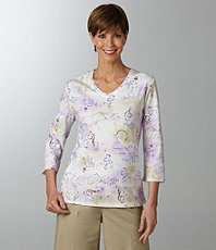Allison Daley Printed Knit Top $19.20