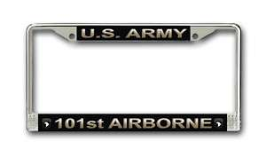Army 101st Airborne Div Military License Plate Frame