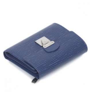 LOUIS VUITTON Epi KOALA Wallet Coin Purse Blue LV