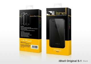 SHIELD iShell Case Tasche Apple iPhone 4S Schwarz + Display