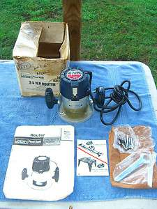 Powr Kraft Montgomery Ward 3/4 HP Router with paper work and wrench