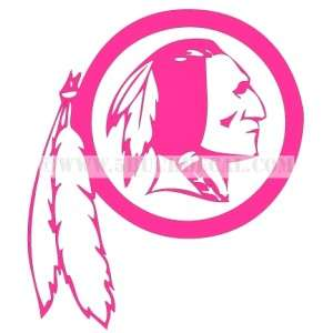 REDSKINS car window sticker decal PINK BREAST CANCER