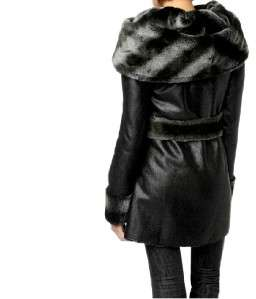 illusion reversible faux fur coat plus size 1x $ 429 two coats in one