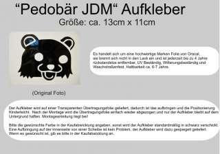 Pedo Bär Aufkleber Sticker, JDM, shocker, oem, pedobär, Drift, Japan