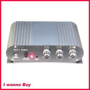50W Stereo Power AMP Audio Amplifier Car 2.1 Channel w/ RCA cable