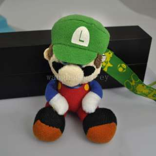 2012 new super mario handmade mobile phone&key Chain stand plush doll