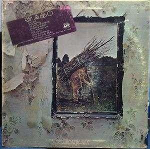 LED ZEPPELIN iv 4 zoso LP VG+ R 112014 Rare 1971 RCA Record Club 1s w