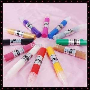 12 pcs 3D Nail Art Color Pens Design Nail Brush Tips