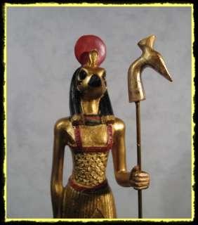 Horus mit Was Zepter Ägypten Figur Statue Deko gold