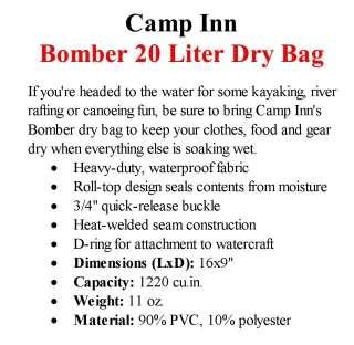 Camp Inn Bomber Rugged Waterproof 20 Liter Dry Bag