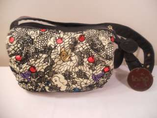Couture Snow White Bag Purse Pocketbook by Loop Black NWT