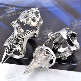 Cool CROSS Claw Sharp Punk Finger Two Joint Ring Cocktail Party