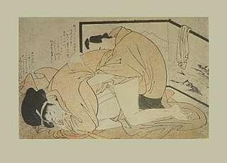 Kitagawa Utamaro Kunstdruck erotische Holzschnitte IV