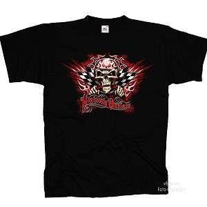 Biker Gothic Tattoo Hot Rod Driver Tuning Racer T Shirt *4270 schwarz