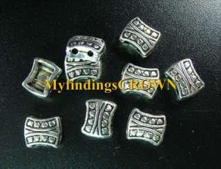 100 Tibetan Silver HEART 2 holes spacer beads FC621