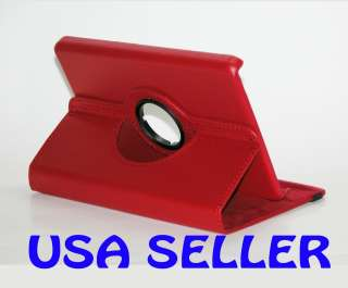 PU Leather Stand Case Cover for  Kindle Fire   RED