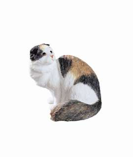 SCOTTISH FOLD LONGHAIR CAT STATUE FIGURINE