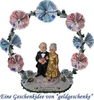 Geldgeschenk GOLDENE HOCHZEIT Hochzeitsbogen Goldpaar