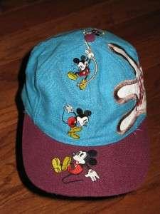 VINTAGE 90s MICKEY MOUSE ADULT SNAPBACK HAT DISNEY CAP DREW PEARSON
