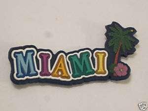 Souvenir Magnet Miami Florida Palm Tree Hibiscus flower
