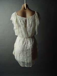 Romantic Victorian Antique Style Ivory Lace Vtg y Elegant Drape Party