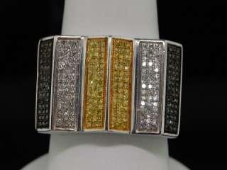 MENS WHITE GOLD FINISH 0.84 CT DIAMOND PINKY RING PAVE
