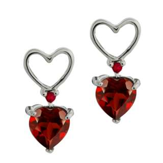 68 Ct Genuine Heart Shape Red Garnet Gemstone Sterling Silver