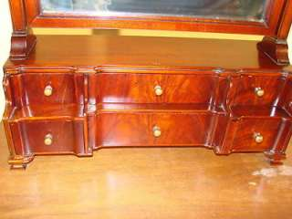 Bench Made Solid Mahogany Dresser Mirror with Drawers