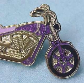 Relay for Life Purple Ribbon Motorcycle Biker Pin Tac