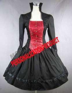 Victorian Gothic Lolita Brocaded Cotton Cosplay Dress