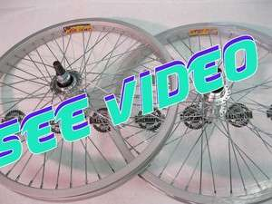 Bike BMX Wheel Pair FLIP FLOP Silver ALLOY Front+ Back 20 RIMS 48H