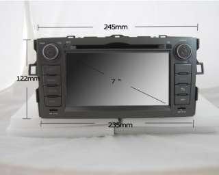 AUTORADIO DVD GPS pour Toyota Auris 2007 2011