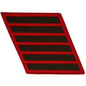 USMC US Marine Corps Service Stripes 24 Year Green/Red