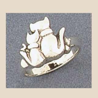 Sterling Silver Cat & Kitten Ring Sizes 3 9