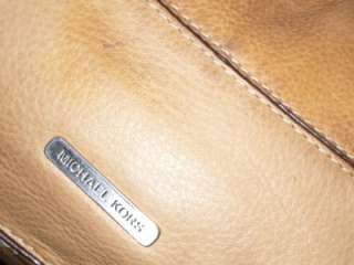 MICHAEL KORS Buttery Soft Tan/Camel Slouchy Distressed Leather Buckle