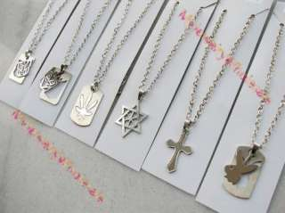 wholesale mixed lots 12 pieces Stainless steel Pendant & necklace