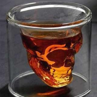 Doomed Crystal Skull Vodka Shot Glass Drinking Glassware for Home Bar