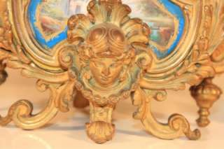 Antique French Louis XV Sevres Style Figural P.H. Mourey Gilt Bronze